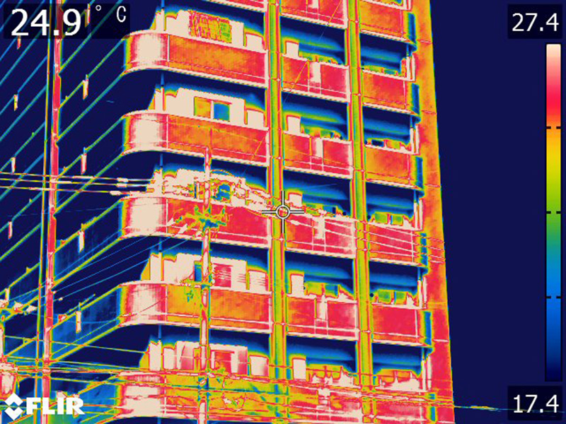 赤外線カメラによる外壁調査・漏水調査